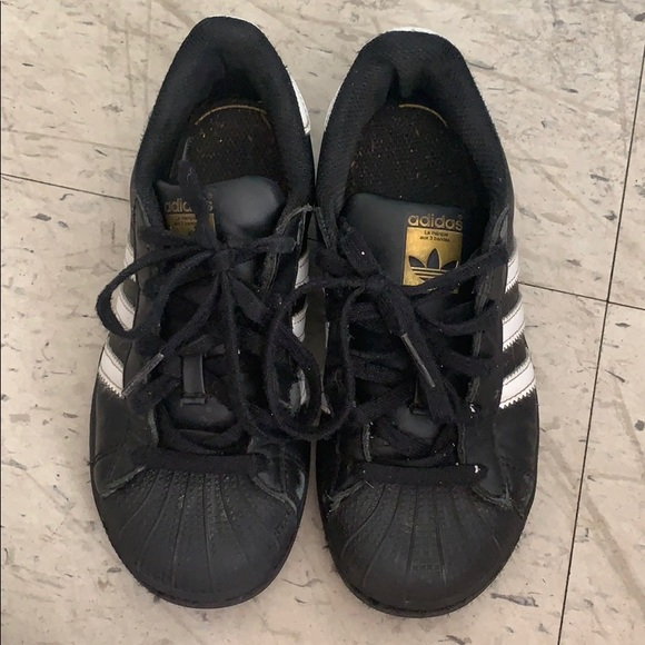 adidas Shoes | Girls Black And Gold